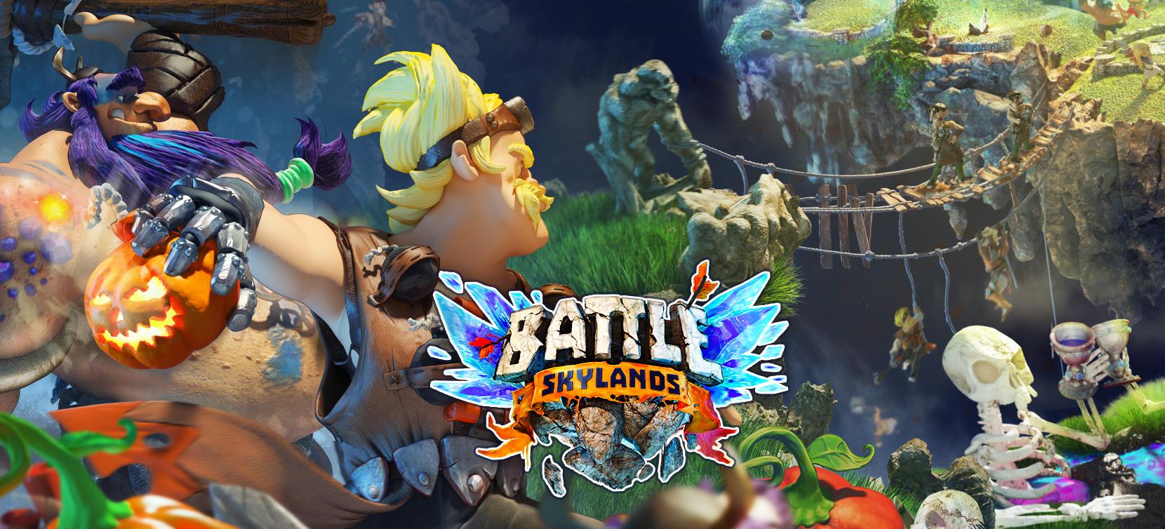 Battle Skylands - Bomberman throwing Halloween Bomb